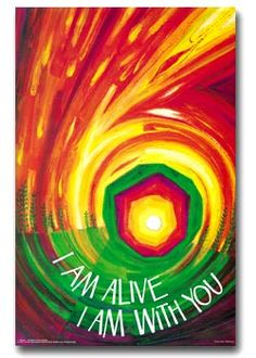 I am alive, I am with you banner