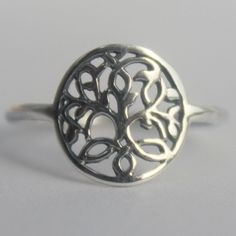 Celtic Sterling Silver Tree of Life Ring by HeartCoreDesign, $16.50