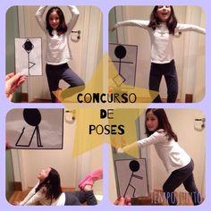 Poses criativas para uma competição de quem imita melhor! Atividades divertidas para crianças!