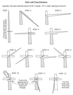 How to fold palm branches into a cross