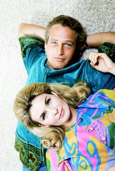 Paul Newman and Joanne Woodward photographed by Mark Kauffman, 1968