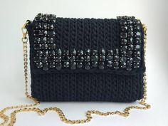 Трикотажная сумка крючком сумка из трикотажной пряжи схема крючком