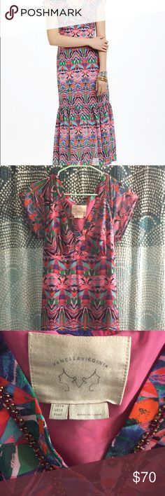 Feelings lady and beads on pinterest for Anthropologie mural maxi dress