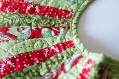 """Red and Green Christmas Tree Skirt - 40"""". $105.00, via Etsy. Want, Need, Have To Have!!!"""