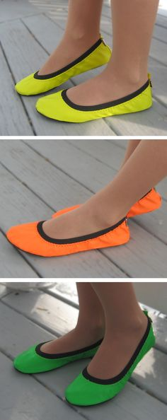 More on the neon folding shoes