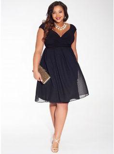 Adelle Dress in Noir Dot