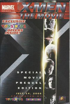 Marvel X-Men special movie prequel edition comic