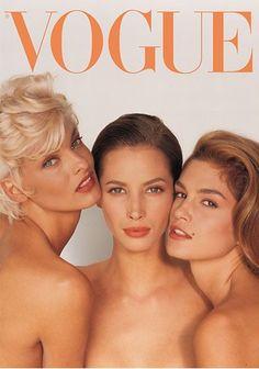 Supermodels of Eighties and Nineties era -- Linda Evangelista, Christy Turlington, Cindy Crawford