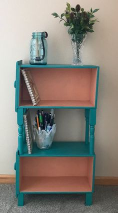 My husband and I have been collecting dresser drawers and making planters. That became boring. We expanded our creative vision to make an original one of a kind book shelf for our granddaughters… Diy Furniture Projects, Repurposed Furniture, Furniture Makeover, Refurbished Furniture, Furniture Refinishing, Recycled Dresser, Chair Makeover, Furniture Websites, Handmade Furniture