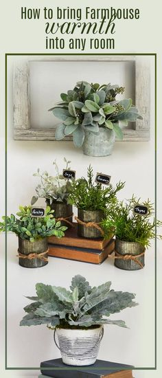 I want all of these! Need some help bringing the farmhouse style into your home? Here are great options! #farmhouse #homedecor #greenery #rustic #centerpieces