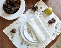 How to sew a reversible place mat and napkin.