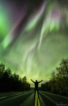 Valokuvaaja Iiro Rautiainen : Revontulet sumussa Venus E Marte, Moon Sea, Northen Lights, Star Cloud, Skylights, Composers, Milky Way, Solitude, Night Skies