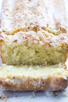 Loaf Cake If you love coconut then this cake is for you. It has a perfect coconut flavor, moist, and has a perfectly crisp crust.If you love coconut then this cake is for you. It has a perfect coconut flavor, moist, and has a perfectly crisp crust. Food Cakes, Cupcake Cakes, Coconut Loaf Cake, Coconut Bread Recipe, Coconut Quick Bread, Coconut Banana Bread, Coconut Muffins, Coconut Milk, Vegan Coconut Cake