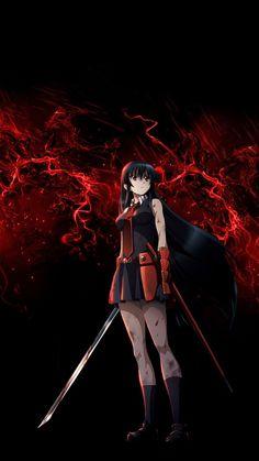 Akame from Akame ga kill Otaku Anime, Chica Anime Manga, Anime Art, Akame Ga Kill, Madara Susanoo, Animes Wallpapers, Red Eyes, Sword Art Online, Rwby
