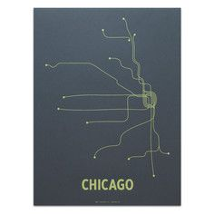 Chicago Screenprint Dark Gray, $19.75, now featured on Fab.