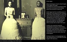 Emilie Sagee, one of the most documented cases of a doppelgänger. Once witnessed by 42 people at the same time.
