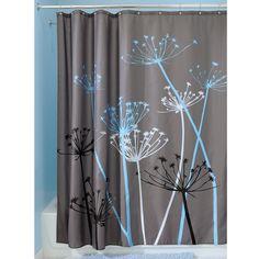 Amazon.com - InterDesign Thistle Shower Curtain, 72 x 72-Inch, Gray/Blue -