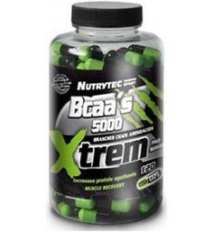 120 cápsulas de BCAA's 5000. 1000 MG. Recuperación, regeneración del tejido muscular, incremento de la síntesis proteica y disminución de fatiga central. Los BCAA´s son 3 aminoácidos: Isoleucina, Leucina y Valina a los cuales se les llama Aminoácidos de Cadena Ramificada y son del grupo de los esenciales, que no pueden ser sintetizados por el organismo y que deben ser ingeridos.