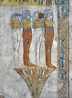 Egypt, Thebes, Luxor, Valley of the Kings, Tomb of Tausert  or Tawosret , mural painting of Horus