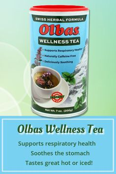 OLBAS WELLNESS TEA is an aromatic and fragrant blend of 20 soothing herbs, enhanced with pure essential oils that support respiratory and digestive health. Enjoy the caffeine-free, instant anytime! Clove Essential Oil, Pure Essential Oils, Sinus Relief, Herbal Tea, Herbal Remedies, Caffeine, Peppermint, Herbalism, Herbs