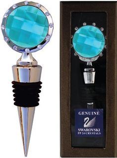 Chatt Aqua Crystal Bottle Stopper with Swarovski PP24 Crystals in gift box by Chatt. $10.98. Major Sponsor of the SmileTrain.Org; Beautiful Gift Box. Chatt exclusive bottle stoppers featuring 12 Swarovski clear PP24 crystals are 5 inches long and come with an attractive gift box. We include a white cardboard sleeve to protect the box during shipping.