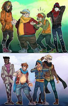 Kenny McCormick, Eric Cartman, Kyle Broflovski, Stan Marsh, Token Black, Clyde Donovan, Craig Tucker, Tweek Tweak