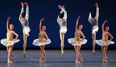 """Members of New York City Ballet in George Balanchine's """"Divertimento No. 15."""" (Photo: Andrea Mohin/The New York Times)"""