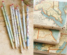 Last week [On the Blog]: 7 creative ways to use maps, from upcycled CD case picture frames to keepsake earrings.