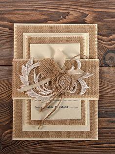 Custom Listing (100) Lace Wedding Invitation, County Style Wedding  Invitations, Rustic Wedding