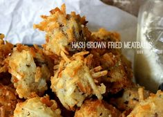 ~Hash Brown Fried Meatballs! | Oh Bite It