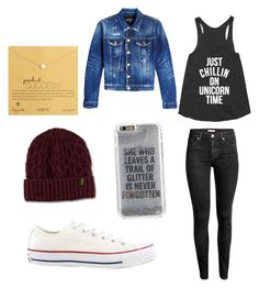 Cool outfit!! by abbyraebarnes on Polyvore featuring polyvore, fashion, style, Dsquared2, H&M, Converse, Dogeared, Dr. Martens, Agent 18 and clothing