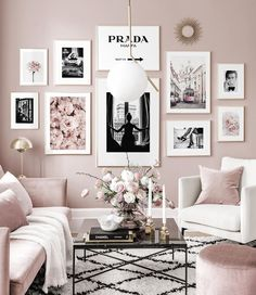 Gallery Wall Inspiration - Shop your Gallery Wall - Posterstore. Decor Room, Living Room Decor, Bedroom Decor, Living Room Lighting, Decorating Your Home, Interior Decorating, Interior Design, Design Design, Inspiration Wand