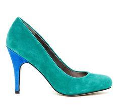 Emerald & Blue Pumps.
