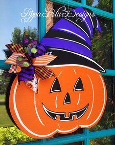 Trick or Treat Hanging Door Sign Halloween Home Decor Wreaths Crafts  BH
