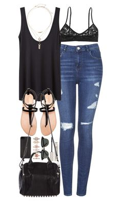 outfit for summer by im-emma on Polyvore featuring polyvore fashion style The Row Topshop Monki Zara Alexander Wang 1&20 Blackbirds Miss Selfridge Marc by Marc Jacobs Ray-Ban clothing
