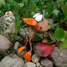 Ceramic Clay, Paper Mache, Clay Art, Garden Art, Sculpture Art, Projects To Try, Carving, Birds, Christmas Ornaments