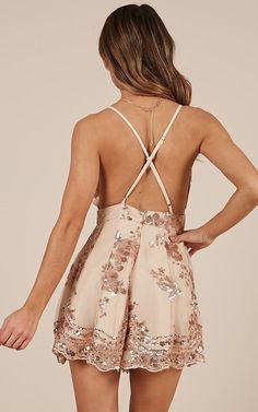 Womens Sequins Floral Jumpsuit V-neck Sling Backless Dress Hoco Dresses, Dance Dresses, Dresses For Teens, Homecoming Dresses, Sexy Dresses, Vintage Dresses, Casual Dresses, Fashion Dresses, Dresses For Work