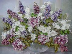 I ❤ ribbonwork . . . beautiful silk ribbon artwork by Lyudmila Deineko from Perm in Russia.