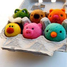 Bichinhos fofíssimos e super criativos feitos com feltro colorido! ~ No Preach   Bárbara Urias