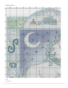 winter unicorn cross stitch 1