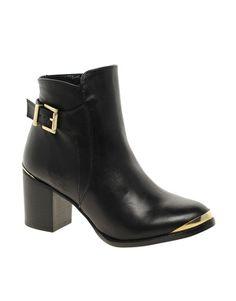 Dune Pedro Block Heel Boots