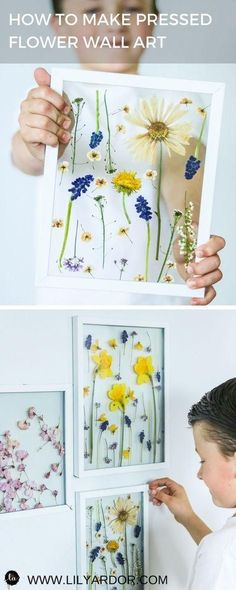PRESSED FLOWER ART- Press flowers in 3 minutes – Mother's day gift ideas – Mmuttertagother's day craft ideas Diy Crafts For Kids, Arts And Crafts, Paper Crafts, Creative Crafts, Fabric Crafts, Creative Ideas, Fun Crafts, Room Crafts, Nature Crafts