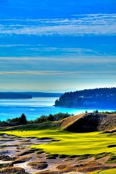 at Chambers Bay Golf Course - Location of the 2015 U. I Rock Bottom Golf Famous Golf Courses, Golf Holidays, Golf Pictures, Golf Photography, Golf Tips, Golf Clubs, Scenery, Places To Visit, Vacation
