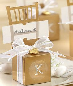 Gold Placecard Holders Personalized Wedding by MakeSpecially