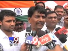 Ahmedabad: Strongly opposing the demand of Patidar Anamat Andolan Samiti (PAAS) to include the Patel community in Other Backward Class (OBC) list, nearly one lakh people participated in the 'anamat bachao (save reservation)' dharna called by the OBC Ekta Manch near RTO circle in Ahmedabad Sunday. Alpesh Thakore, president of Thakore Kshatriya Sena, opposed the Patidars' demand for their inclusion under OBC category.