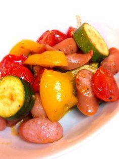 久々のズッキーニさん。 パプリカとトマトとソーセージと一緒に炒めてみました。 お味はクレソルで(#^.^#) - 9件のもぐもぐ - ズッキーニのカラフル炒め。 by yurihana
