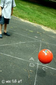 Rules for playground ball games like 4-square (my older son's favorite!)