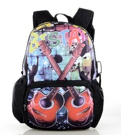 Mens Backpacks Street bag Graffiti Bags School bags Travel Laptop briefcases