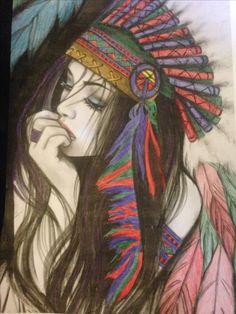Indian Headdress Tattoo, Sunset Tumblr, Indian Drawing, Lion Sketch, Native Tattoos, African Art Paintings, Basketball Art, Buddha Art, Badass Tattoos