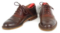 Johnston Murphy Oxford Saddle Shoes Mens 10N Narrow Italy Brown Two-Tone #JohnstonMurphy #Oxfords